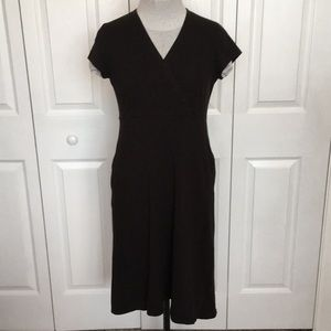 Eileen Fisher Surplice Cap Sleeve Jersey LBD dress